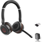 Evolve 75 MS Stereo - Headset - on-ear - Bluetooth - wireless - active noise canceling - USB