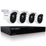 4 Channel 5MP Extreme HD Video Security DVR with 1 TB HDD and 4 x 5MP Wired Infrared Cameras