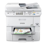 WorkForce Pro WF-6590 - Multifunction printer - color - ink-jet - A4/Legal (media) - up to 22 ppm (copying) - up to 34 ppm (printing) - 580 sheets - 33.6 Kbps - USB 2.0, Gigabit LAN, Wi-Fi(n), USB host, NFC