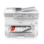 WorkForce Pro WF-8590 - Multifunction printer - color - ink-jet - Ledger (11 in x 17 in) (original) - A3/Ledger (media) - up to 22 ppm (copying) - up to 34 ppm (printing) - 330 sheets - 33.6 Kbps - USB 2.0, Gigabit LAN, Wi-Fi(n), USB host