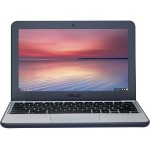 "Chromebook C202SA-YS02 Intel Core Celeron N3060 Dual-Core 1.60GHz Notebook PC - 4GB RAM, 16GB eMMC, 11.6"" HD, 802.11ac, Bluetooth V4.2 - Dark Blue/Silver with 1-Year Chromebook ADH Protection Plan"