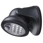12-LED Wireless Porch Light - Charcoal