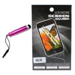 Q-Stick Touch Mini-Stylus and Screen Protector Combo Kit for iPhone 4/4S