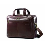 """Columbian Leather Toploader - Notebook carrying case - 15.6"""" - brown"""