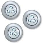 3 LED Wireless Stick-on Tap Light, 3-Pack, Silver