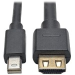 10ft. Mini DisplayPort 1.2a to HDMI Active Adapter Cable with Gripping HDMI Plug, HDMI 2.0, HDCP 2.2, 4K x 2K @ 60 Hz (M/M)