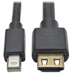 3ft. Mini DisplayPort 1.2a to HDMI Active Adapter Cable with Gripping HDMI Plug, HDMI 2.0, HDCP 2.2, 4K x 2K @ 60 Hz (M/M)