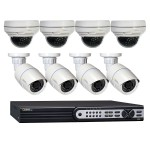 8 Channel NVR with (4) 1080p IP Bullet Cameras, (4) 1080p IP Dome Cameras and 2 TB Hard Drive