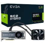 EVGA GeForce GTX 1080 Ti SC2 HYBRID GAMING, 11G-P4-6598-KR, 11GB GDDR5X, HYBRID & LED, iCX Technology - 9 Thermal Sensors