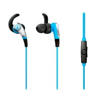 Audio - Technica SonicFuel ATH-CKX5iS - Earphones with mic - in-ear - 3.5 mm jack - blue ATH-CKX5ISBL