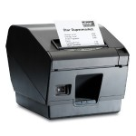 TSP743IICLOUDPRNT-24L GRY - TSP700, Direct Thermal, Label, Cutter, Ethernet, CloudPRNT, USB, Two Peripheral USB, Gray, Ext PS Required