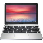 "Chromebook C201PA-DS02 ARM Cortex-A17 Quad-Core 1.8GHz Notebook PC - 4GB RAM, 16GB eMMC, 11.6"" 16:9 HD, 802.11ac, Bluetooth 4.0 - White/Blue (Open Box Product, Limited Availability, No Back Orders)"