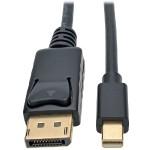 10ft. Mini DisplayPort to DisplayPort 4K @ 30 Hz Adapter Cable (M/M), 4096 x 2160 (4K x 2K) - Black