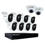 CL-HDA30-161022P-B 16 Channel 3MP Extreme HD Video Security System with 2 TB HDD & 8x3MP Bullet Cameras - White
