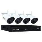 4 Channel 1080p Wireless Smart Security Hub - White