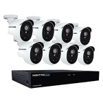 8 Channel 5MP Extreme HD Video Security DVR & Wired Infrared Cameras with 2 TB HDD - White