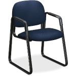 Solutions Seating Sled-base Guest Chairs - Navy Seat