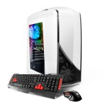 SN8100Vi Gaming Desktop PC - Intel i5-7400 - 8GB DDR4 2400Mhz - 1.016TB Hard Drive - GTX1050 2GB Graphics Card - Phantom 240 White Casing - B250 Motherboard - 802.11 AC WIFI - RGB Lighting - DVD RW - Windows 10 Home 64bit