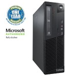 ThinkCentre M71 SFF Desktop - Intel Core i3-2100 3.1GHz, 8GB DDR3, 250GB HDD, DVDROM, Windows 10 Pro, Microsoft Authorized Refurbished (Off-Lease)