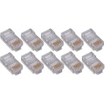 1000PK Cat6 RJ45 Ethernet Plugs/Connectors