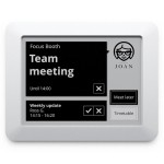 JOAN Executive - Wireless Conference Room Scheduler - Gray - Touch E Ink Electronic Paper Display - IEEE802.11 b/g/n (Wi-Fi) - WPA2-EAP