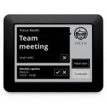 JOAN Manager - Wireless Conference Room Scheduler - Black - Touch E Ink Electronic Paper Display - IEEE 802.11 b/g/n (Wi-Fi) - WPA2-PSK