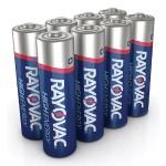 High Energy AA 8-Pack Alkaline Batteries