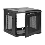 9U Wall-Mount Server Rack Cabinet - Up to 20.8 in. Deep - Rack enclosure cabinet - wall mountable - black - 9U
