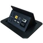 Tilt 'N Plug Interconnect Box - VGA/HDMI/Audio/RJ45/USB/RJ45