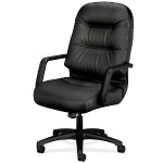 Pillow-Soft Executive High-Back Chair - Leather Black