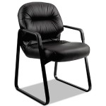 Pillow-Soft Guest Chair - Leather Black