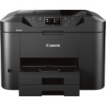 Maxify MB2720 Small Office / Home Office Printer - Print, Scan, Copy, Fax - 1200x600 dpi, 24ipm Black/15.5ipm Color, Automatic Duplex Printing, Four-Color Pigmented Ink System, 50-Sheet ADF & Two 250-Sheet Input Trays, 20000 Pages, USB 2.0, Ethernet, WiFi