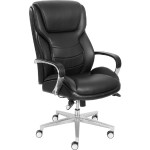 """ComfortCore Gel Seat Executive Chair - 28.5""""W x 32.8""""D x 48.3""""H, Faux Leather Black"""