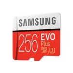 EVO Plus MB-MC256G - Flash memory card (microSDXC to SD adapter included) - 256 GB - UHS-I U3 / Class10 - microSDXC UHS-I