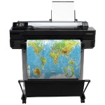 DesignJet T520 24-in Printer - Print, 2400x1200 dpi, 4 ink system, 35 sec/page on A1/D, 70 A1/D prints per hour, Hi-Speed USB 2.0 certified, Wi-Fi