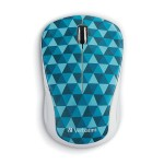 Wireless Notebook Multi-Trac Blue LED Mouse – Diamond Pattern Blue