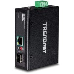 Industrial SFP to Gigabit PoE+ Media Converter