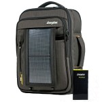 PowerKeep Pro - Charcoal - Includes briefcase backpack, PK10K power bank, solar panel and micro-USB cable