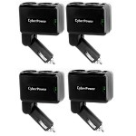 Mobile Power Ports (2) DC Ports and (1) 2.1A USB Charging Port - Car Charger (4 Pack)