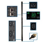 5/5.8kW Single-Phase Switched PDU with LX Platform Interface, 208/240V Outlets (20 C13 & 4 C19), L6-30P, 0U, TAA