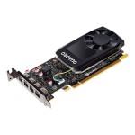 NVIDIA Quadro P1000 - Graphics card - Quadro P1000 - 4 GB GDDR5 - PCIe 3.0 x16 low profile - 4 x Mini DisplayPort - for Workstation Z240 (SFF, tower), Z4 G4, Z440, Z6 G4, Z8 G4