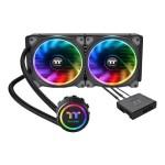 Floe Riing RGB 280 TT Premium Edition - Liquid cooling system CPU water block - (for: LGA1156, AM2, AM2+, LGA1366, AM3, LGA1155, AM3+, LGA2011, FM1, FM2, LGA1150, LGA2011-3, LGA1151, AM4, LGA2066) - copper - 140 mm
