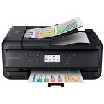 PIXMA TR7520 - Multifunction printer - color - ink-jet - Legal (8.5 in x 14 in) (original) - Legal (media) - up to 15 ipm (printing) - 200 sheets - 33.6 Kbps - USB 2.0, Bluetooth, Wi-Fi(n) - black with  InstantExchange
