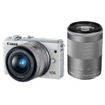 EOS M100 24.2MP Mirrorless Digital Camera with EF-M 15-45mm f/3.5-6.3 and EF-M 55-200mm f/4.5-6.3 IS STM Lenses - White