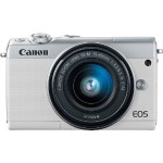 EOS M100 24.2MP Mirrorless Digital Camera with EF-M 15-45mm f/3.5-6.3 IS STM Lens - White