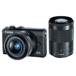 EOS M100 24.2MP Mirrorless Digital Camera with EF-M 15-45mm f/3.5-6.3 and EF-M 55-200mm f/4.5-6.3 IS STM Lenses - Black