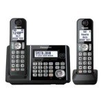 KX-TG3752B - Cordless phone - answering system with caller ID/call waiting - DECT 6.0 - black + additional handset