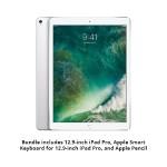 12.9-inch iPad Pro Bundle - 12.9-inch iPad Pro Wi-Fi 64GB (Silver) with Smart Keyboard and Apple Pencil
