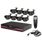 8-Cameras 500GB HD DVR Security Camera System - Refurbished