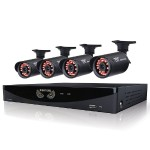 4 Channel Video Security System with 4 x 650 TVL Bullet Cameras with a 500GB pre-installed hard drive - Refurbished